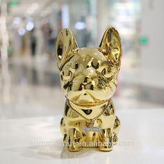 Shiny shiny bulldog figurine
