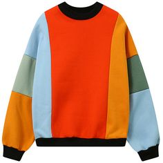 Fleece Color Block Sweatshirt ($21) ❤ liked on Polyvore featuring tops, hoodies, sweatshirts, sweaters, color-block sweatshirt, color block tops, colorblock top, red sweatshirt and fleece tops