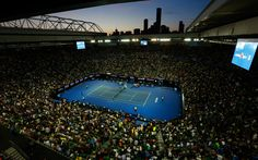 Download wallpapers Rod Laver Arena, tennis stadium, sports arena, tennis, Melbourne, Australia