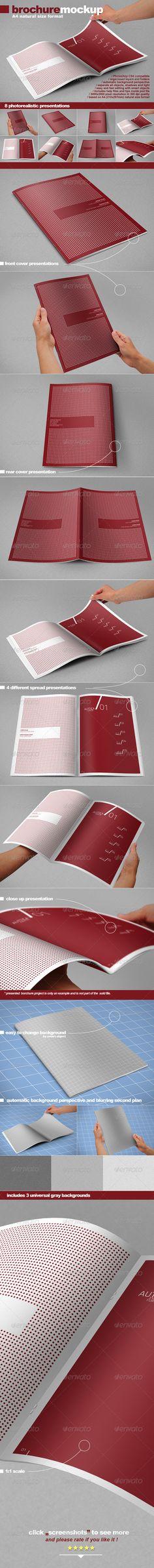 Photorealistic A4 Brochure Mock-up - Brochures Print