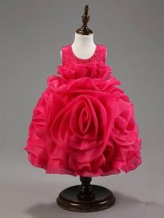 Hopscotch | Buy Rose Flower Dress - Fushia on Hopscotch.in in India