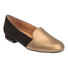 Women's A2 by Aerosoles Good Call Flat Gold Faux Leather Combo