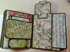 """I love thiz design!! It's called """"The All Occasion Mini Album"""" and the directions came from Kathy Orta. The paper I used is from Hobby Lobb..."""