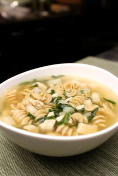 Ginger Chicken & White Asparagus Noodle Soup