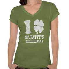 #StPatricksDay - Retro I Love St. Patrick's T Shirt by  #785tees