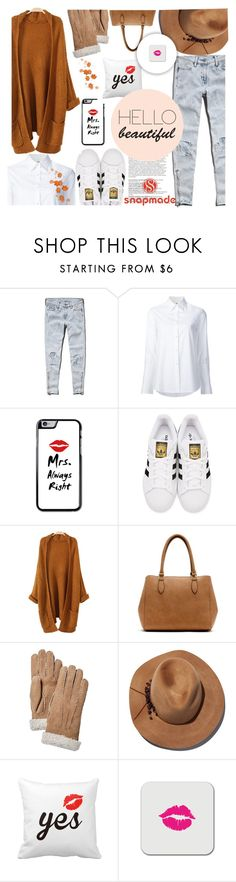 """Hade O Zaman"" by naomy-nona ❤ liked on Polyvore featuring Abercrombie & Fitch, Misha Nonoo, Balmain, adidas Originals, New Directions, Hestra and Eugenia Kim"