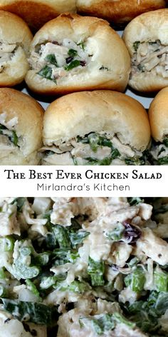 This chicken salad is perfect.  It is moist, flavorful and has just a few hints of fruit in it.  It is super easy to make your own and downright scrumptious.  I get asked for this recipe all the time and for good reason.  It just does not get any better than this!