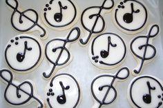 treble clef cookies