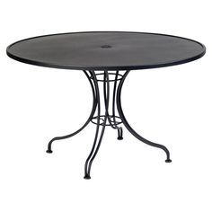 Outdoor Woodard Solid Top Round Patio Dining Table with Umbrella Hole - 13L4RU36-30
