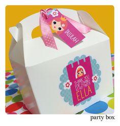 Personalised Childrens PRINCESS Birthday Party by OrangePaperDuck