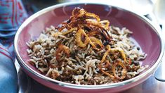 A lovely lentil pilaf flavoured with cinnamon and all-spice. Serve with your favourite meat or vegetable curry – search the website for recipes. Vegetable Rice Recipe, Vegetable Curry, Vegetable Recipes, Lentil Recipes, Rice Recipes, Sbs Food, All Vegetables, Lentils, Cinnamon