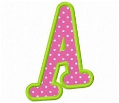 Boys Applique Letters - 2 Sizes! | What's New | Machine Embroidery Designs | SWAKembroidery.com Fun Stitch