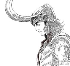Loki done by crosshatching, I love that style of art.
