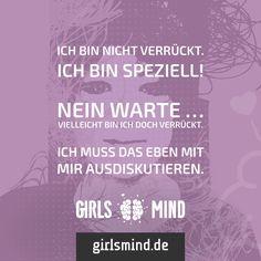 Wer ist schon normal?  Mehr Sprüche auf: www.girlsmind.de  #verrückt #crazy #speziell #individuell #einzigartig #lustig