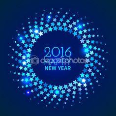 с новым годом 2016 фон — Векторная картинка #77292962