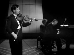 "NATHAN MILSTEIN plays ""Asturiana"" (Manuel de Falla) with ERNEST LUSH. London, 1957."