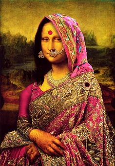 Mona Lisa ; Bollywood style.