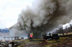 Brann i Hovdebygda. (Foto: Rune Sæbønes)
