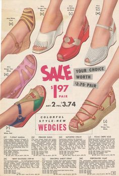 1950s sandals