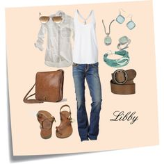 Summer Casual, created by libby-pitner-mitchell on Polyvore