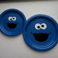 DIY Sesame Street Cookie Monster Vinyl Decals Birthday
