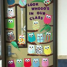 My classroom door before I knew I couldn't decorate it. :( Thanks Pinterest for the idea!