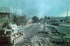 Date: Thursday, 2 October 1941 Place: Vyazma, Smolensk Oblast, Soviet Union Photographer: Helmut Ritgen  Panzerbefehlswagen III 'RO6' of...