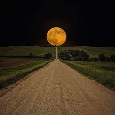Supermoon in South Dakota