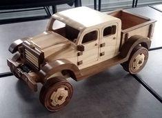 Handmade Wooden Toy Truck, Dodge Power Wagon, Pickup Truck, Wooden Model, 4x4 #handmade #handcrafted #woodentoy #toys #model #dodge #powerwagon #pickup #trucks