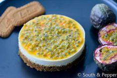 Cheesecake met ricotta, speculoos en passievrucht