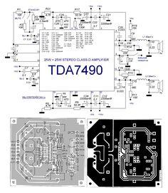 Стерео усилитель класса D 2*25Вт на базе TDA7490 | rcl-radio.ru