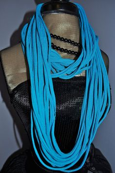 Skinny Summer Scarf Necklace  Eco Friendly by RedWithEnvyDesigns, $14.00