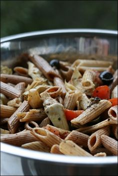 Mediterranean Pasta Salad. Perfect for a pool party or picnic :)