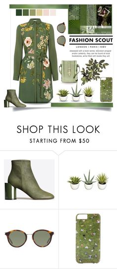 """""""Pantone Spring Color Trend Report - Kale"""" by affton ❤ liked on Polyvore featuring GET LOST, Maison Margiela, Yves Saint Laurent, Gray Malin and D'Albert"""
