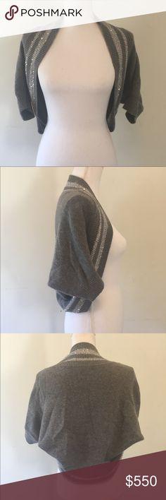Brunello Cucinelli cashmere shrug sweater glitter Super cute in excellent condition Brunello Cucinelli Sweaters Shrugs & Ponchos