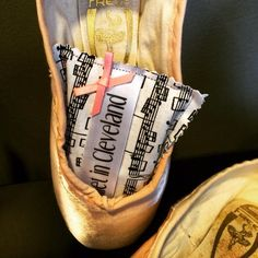 New pointe shoe sachets by Ballet in Cleveland.