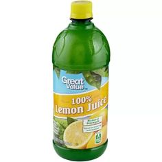 Great Value 100% Lemon Juice, 32 Fl Oz