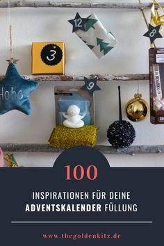 Schluss mit langweiligen Kalendern aus dem Supermarkt! Mit meinen 100 Ideen für Füllungen des Adventskalenders wir jedes Türchen ein Erlebnis. Diy Inspiration, Hanukkah, German, Wreaths, Interior, Projects, Ideas, Home Decor, Creative Gifts
