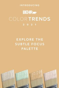 Set your sights on peaceful pastels with the Subtle Focus palette, an array of soothing shades designed to help you find peace -and presence - of mind. Airy and soft colors like Wishful Green M410-2, Seaside Villa S190-1, Cellini Gold HDC-CL-18 and Smoky White BWC-13 can add notes of playfulness to your walls, cabinets and furniture pieces. Click below to explore the full palette.