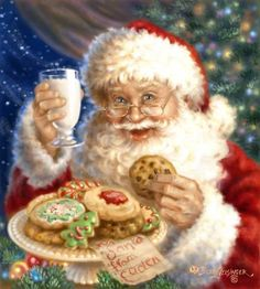 Petit Papa Noel - Christmas with Nana Mouskouri Christmas Scenes, Noel Christmas, Father Christmas, Vintage Christmas Cards, Christmas Pictures, Winter Christmas, Christmas Cookies, Santa Cookies, Christmas Puzzle