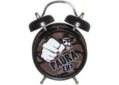orologio sveglia CHUCK N. con luce si illumina intorno quando suona- 17 cm-suona come una risata....AAAHHHH!!!!...UHA UHA AA.....