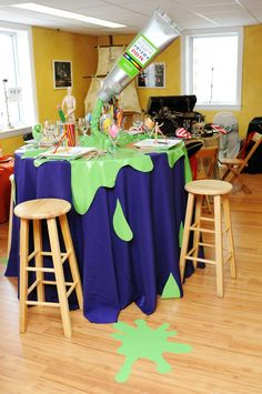 Love the paint spots! You could cut out of paper or plastic table cloth