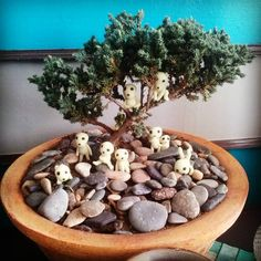 #bonsai #kodama #princessmononoke #spirit #forest #tree #sculpture #polymerclay #studioghibli #artwork #creative #creation #artsolem