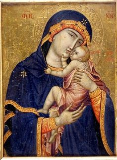 Early Netherlandish painting - Anonymous, The Cambrai Madonna, c Cambrai Cathedral, France. This small c. 1340 Italo-Byzantine replica was believed an original by Saint Luke and therefore widely copied Byzantine Icons, Byzantine Art, Early Christian, Christian Art, Religious Icons, Religious Art, Religious Images, Photo Images, Art Images