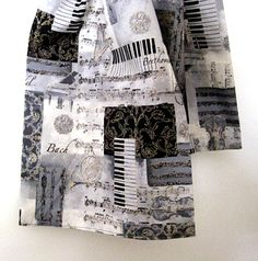 Scarf Classical Music Collaged with musical elements by CalArtist, $20.00