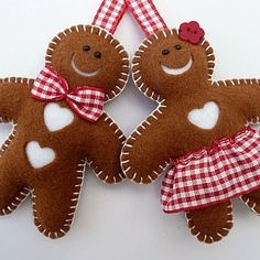 make gingerbread men felties
