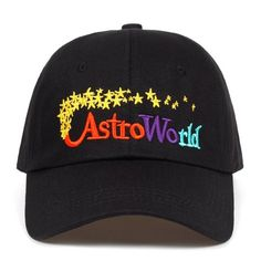 41e53b7925e Astroworld Dad Hat - Travis Scott Album Dad Hat - Black Baseball Cap -  Black Dad Hat - Music Hat - Embroidered Dad Hat ASTROWORLD STYLE HAT