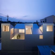 This house in Nagoya by Japanese architect Tomohiro Hata has five roofs that…