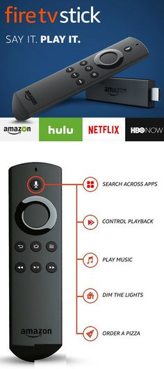 Fire TV Stick with Alexa Voice Remote Streaming Media Player Review With Fire TV Stick with Alexa Voice Remote Streaming Media Player you will enjoy tens of thousands of channels and apps, including Netflix, Hulu, HBO NOW, YouTube, Amazon Video, NBC, WatchESPN, Disney, and more! he Alexa Voice Remote allows you to find the best way to watch across more than 190 channels and apps with universal search. #fire #tv #tvshow #stick #alexa #remotecontrol #tech #thechnology #geek #gift #gifts