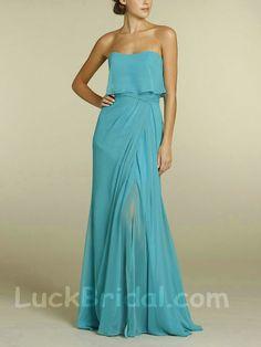 Sexy Aline Sweetheart Bridesmaid Dress Floor Length Chiffon Bridesmaid Gown